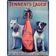 Tennent's Lager Metal Bar Sign