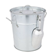 Country Home Galvanized Ice Bucket with Lid & Scoop - 3.75 Quarts