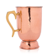 Hammered Copper Tankard with Brass Handle - 16 oz