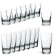 Libbey Geo Heavy Base Drinkware Set - 16 Pieces
