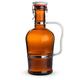 German Style Swing Top Amber Beer Growler with Stainless Steel Handle - 2 Liters