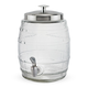 Barrel Shaped Glass Beverage Dispenser - 5 Liters