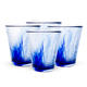 Bormioli Rocco Murano Cobalt Blue Drinking Glasses - 9 1/2 oz - Set of 4