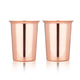 Viski Admiral Solid Copper Shot Glasses - 2 oz - Set of 2
