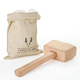 Viski Professional Lewis Ice Bag & Wooden Mallet