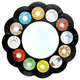 45 RPM Record Recycled Vinyl Wall Mirror