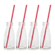 Old Fashioned Milk Bottles with Straws - Set of 4 - 6.75 oz