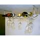 Under Cabinet Wine Rack & Stemware Holder - Chrome