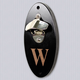 Personalized Wall Mounted Bottle Opener - Black Lacquer Finish