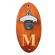 Personalized Wall Mounted Bottle Opener - Amber Lacquer Finish