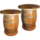 50 Gallon Barrel Tables - Set of 2