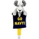 Navy Goat Beer Tap Handle