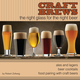 Craft Brews: The Right Glass For The Right Beer Guidebook