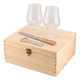 Belgian Beer Glass Gift Set with Wooden Case & Accessories