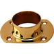 Cut Wall Flange - Polished Brass - 2