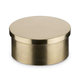 Flush Flat End Cap - Polished Brass - 2