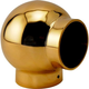Ball Elbow Fitting 90 Degree - Polished Brass - 2