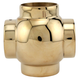 Ball Cross Elbow Fitting - Polished Brass - 1.5