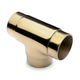 Flush Tee Hand Rail Fitting - Polished Brass - 2