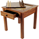3 in 1 Wooden Chess & Backgammon Table