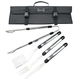 Top Chef Stainless Steel BBQ Tool Set with Carrying Case - 5 Pieces