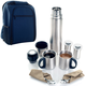 Coffee On The Go Backpack Kit for Two - Navy Blue