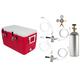 Double Faucet Jockey Box - 50' Coils - Complete Kit