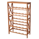 Classic Rustic Wood Wine Rack - Holds 25 Bottles