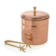Old Dutch Copper Ice Bucket with Tongs - 3 Qt