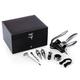 Picnic Time Cabernet Wine Tool Box Set - 8 Pieces