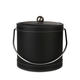 Black Leatherette Ice Bucket with Stitching - 3 Quarts
