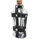Elixir Glass Liquor Bottle Flask with Black Leather Bands - 4 oz