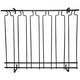 5 Channel Overhead Glass Rack- Black