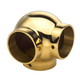 Ball Side Outlet Elbow - Polished Brass - 1.5