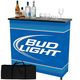 Bud Light Portable Metal Bar Table with Carrying Case