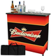 Budweiser Portable Metal Bar Table with Carrying Case