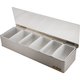 San Jamar Bar Garnish Tray - Stainless Steel - 6 Compartments