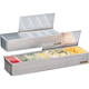San Jamar Bar Garnish Tray - Stainless Steel - Spilt-Lids - 6 Compartments