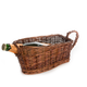 Willow Wicker Lambic Beer Serving Basket - Brown