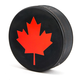 Hockey Puck Bottle Opener - Canadian Maple Leaf Logo
