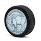 Hockey Puck Bottle Opener - Buffalo Nickel Logo