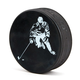Hockey Puck Bottle Opener - Hockey Player Logo
