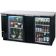 Beverage Air Back Bar Glass Door Refrigerator - 28 cu. ft.