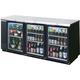 Beverage Air Back Bar Glass Door Refrigerator - 33.3 cu. ft.
