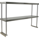 Stainless Steel Worktable Overshelf - Double Shelf - 72