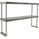 Stainless Steel Worktable Overshelf - Double Shelf