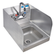 Wall Mount Hand Sink -  Space Saver with Side Splashes
