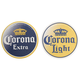Corona Extra & Corona Light Two Sided Logo Beer Coasters - Set of 125