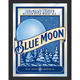 Blue Moon Framed Bar Wall Mirror