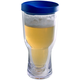 Brew2Go Insulated Beer Tumbler - Blue Lid - 16 oz